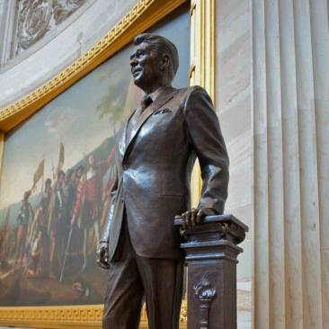 Ronald Reagan in the capitol building, dc
